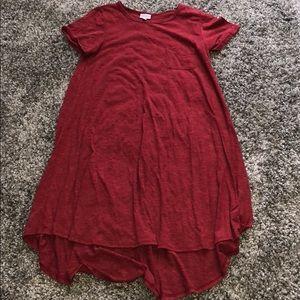 Lularoe heather red dress